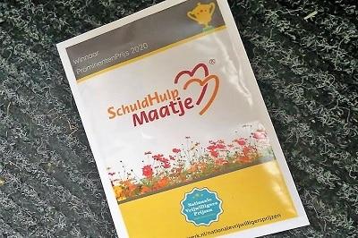 zakje bloemzaad voor alle vrijwilligers van SchuldHulpMaatje ter ere van de PromentenPrijs 2020